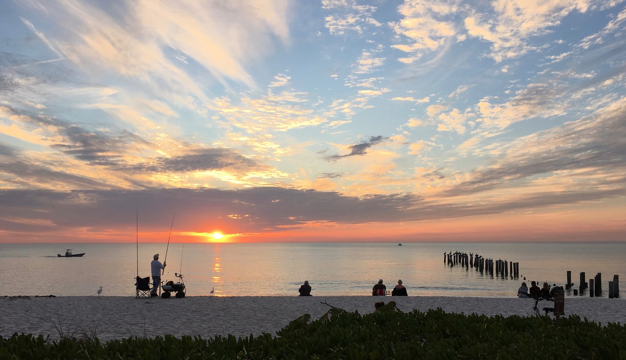 Sunset at Naples, photo copyright by Betsy Haggerty